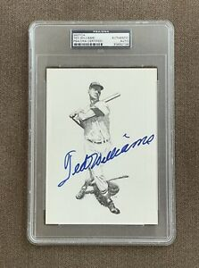 Ted Williams Signed Sketch Authenticated by PSA, DNA, Signed, Auto, Red Sox Fan