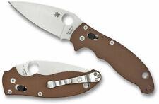 Spyderco Manix 2 Folding Knife, M390 Satin Blade, Brown G-10 C101GPBN2 EXCLUSIVE