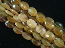 Gemstone Beads Botswana Yellow Agate Faceted Oval 38cm Strand FREE POSTAGE