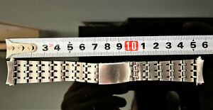 RARE AUTHENTIC SEIKO 6139-6012 RAILROAD BRACELET WITH END LINKS - USED / 1970 !