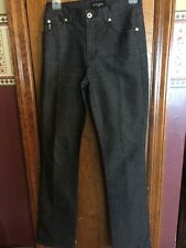 Guess Jeans Size 26 Black Straight Pants Leg Cotton Poly Stretch