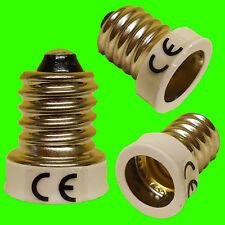 E14 SES To E12 CES WHITE Light Bulb Adaptor Converter Lamp Holder LED UK SELLER.