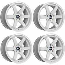 4 x Bola B1 GLOSS WHITE ALLOY WHEELS - 4x108 | 17x7.5 | ET40
