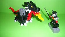 Lego Duplo Ritterburg 7846,4785,4776 Großer schwarzer Drache und Drachenritter