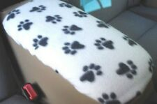 Auto Center Armrest Covers (Center Console Cover) U5 -WHITE AND BLACK PAWS