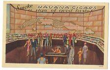 HAVANA CUBA CIGARS 1939 New York World's Fair LINEN AD Defense of CUBAN CIGARS