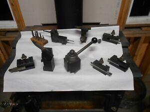 aloris tool post AXA southbend lathe tooling lot aloris tool post and holders
