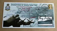 BERGEN U-BOAT RAID 2009 COVER SIGNED BY 9 MEMBERS OF 617 DAMBUSTERS SQUADRON