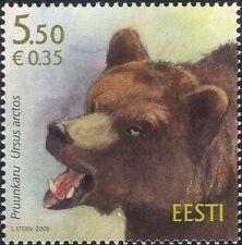 Estonia 2009 Brown Bear/Animals/Wildlife/Nature/Conservation 1v (ee1217)
