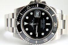 Rolex Submariner Edelstahl Ref.116610LN Keramik Lünette, Optischer Neu Zustand