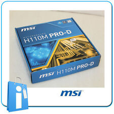 Placa base mATX H110 MSI H110M PRO-D Socket 1151 con Accesorios