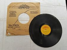 "VINTAGE 78 RPM ""PUNJABI SONG- MASTER HASHIM ""- FT 3339 THE TWIN RECORD"