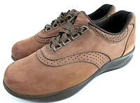 SAS Walk Easy Be Happy Women's 8.5 M Brown Suede Brogue Lace Ups Derbys Shoes