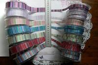 Vertical Multi Striped Ribbon 3 Met Lengths 9 & 22mm Wide 7 Varieties Choice AL7