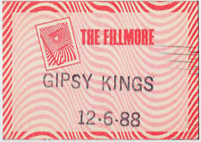 Gipsy Kings ORIGINAL 12/6/1988 the Fillmore San Francisco Backstage Concert Pass