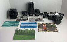 Canon Ae-1 Program 35mm Manual Slr Film Camera Bundle - Nice!