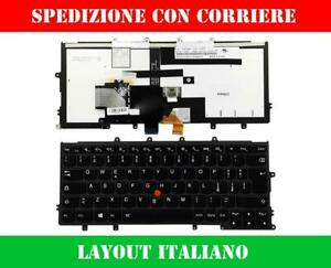 TASTIERA ORIGINALE ITALIANA LENOVO THINKPAD X240 X250 X260 RETROILLUMINATA NERA
