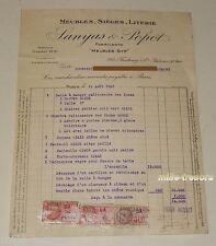 FACTURE de 1938 Fabricants SANYAS & POPOT - Salle à manger palissandre ...