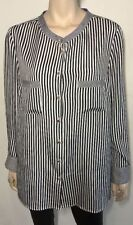 Maggie T Striped Button Down Shirt Tops for Women