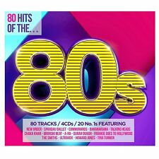 '80 HITS OF THE 80s' (Best Of / Greatest Hits) 4 CD SET (2015)