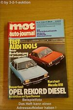 MOT 23/73Audi 100 LS Mazda 818 Opel Rekord Diesel