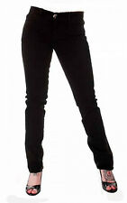 TIGER LONDON PUNK EMO GOTHIC LADIES BLACK STRETCH JEANS SIZE 18