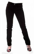Londres Punk Emo Gótico Damas Tigre BLACK STRETCH JEANS tamaño 12