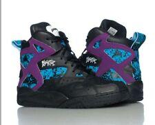 Reebok Pump Boys Blacktop Black Purple Youth Battleground High V60536 Blue Retro