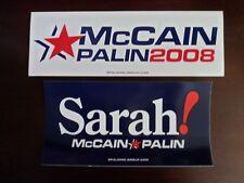 John McCain Sarah Palin 2008 Republican Official Bumper Stickers