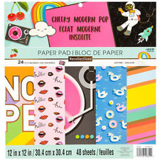 """New Recollections Cheeky Modern Pop 12""""x12"""" Paper Pad 48 Sheets"""