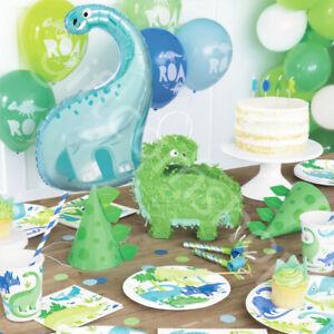 Dinosaur Party Supplies Kids Childrens Birthday Decorations Balloons Tableware