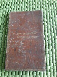 Antique 1831 Map of Pennsylvania by Augustus Mitchell Traveler's Map ORIGINAL!!!