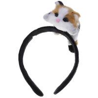 Women Girls Stylish Cute Lolita Lying Cat Hair Hoop Polyester Head Band Headband