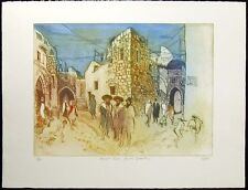 "William Papas ""Ararat Road, Jewish Quarter"" Hand Signed Etching, Jerusalem, OBO!"