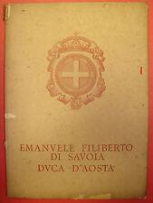 Emanuele Filiberto di Savoia Duca d' Aosta. Monumento nazionale in Torino 1937