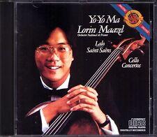Yo-Yo MA: LALO & SAINT-SAENS Cello Concerto No.1 Lorin MAAZEL CBS 1980 CD