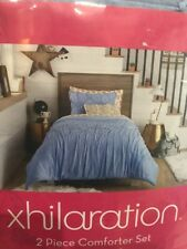 Comforter Set Twin Xl Blue Standard Sham Machine Washable 2-piece New