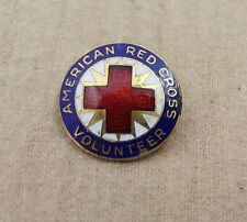 """[STERLING] 1923 """"Production"""" Volunteer Service Pins of the American Red Cross"""