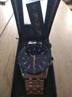 Sekonda Mens 1061 Stainless Steel Silver Blue Dial Bracelet Watch Xmas present