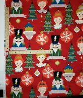 """Alexander Henry Christmas Holiday Quilt Cotton Fabric """"The Nutcracker"""" BTY 44"""" W"""