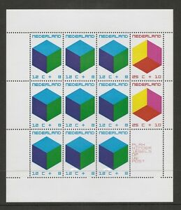 Netherlands SC # B468a Toy Block. Miniature Sheet, Plus Label . MNH