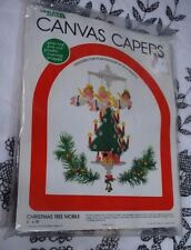 Leisure Arts  Vintage Canvas Capers Kit # 441 Christmas Tree Mobile 1983  M358