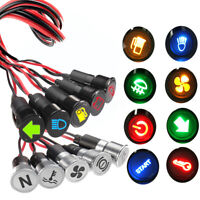 12V-36V 8-16mm LED Dash Panel Warning Pilot Light Indicator Lamp Car Boat Truck