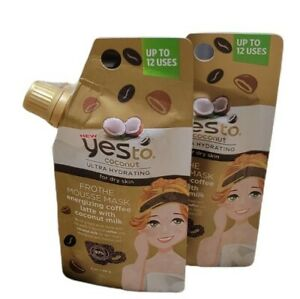 Yes to Ultra Hydrating Coconut  Frothe Mousse Mask Coffe Latte with Coconut Milk