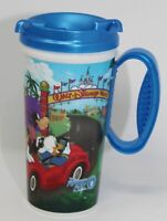 Walt Disney World Rapid Fill Mug Blue Lid WDW Resort Insulated Refillable Cup