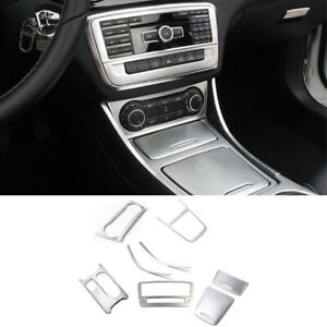 For Benz CLA A GLA Class 13-16 8x Steel Front Center Console Panel Trim Cover