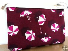 NWT GUCCI Maroon and white Canvas Umbrella Tip Top Cosmetic Pouch bag.