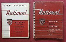 1951 National Tortillon Drill & Outil Full-Line Catalogue Alésoirs Fin Mills