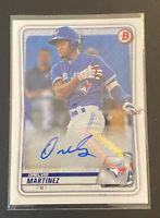 2020 Bowman Orelvis Martinez Auto Autograph Toronto Blue Jays 🔥Hot Prospect 🔥