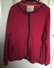 WEIRD FISH, ladies, zipped, hooded, raspberry pink fleece jacket. Size 18